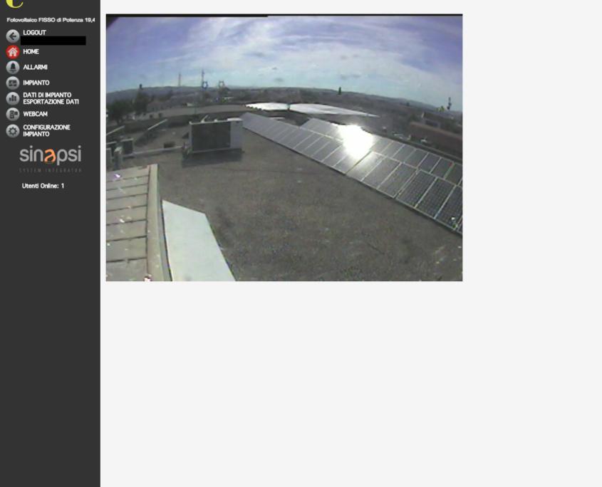 ESOLAR 3 - Interfaccia Web - visualizzazione realtime webcam